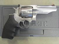 "Ruger Redhawk Double Action 4.2"" Stainless Hogue Grip .44 Mag"