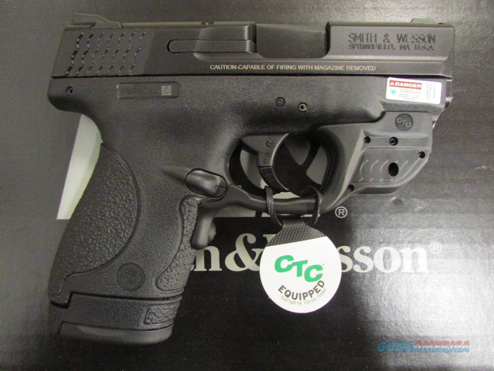 Smith & Wesson M&P9 SHIELD Crimson Trace Green Laserguard 9mm 10141