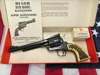 1976 Bicentennial Ruger BlackHawk Convertible .357 Mag/9mm Stag Grips