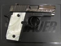 Sig Sauer P238 Pearl Black / Polish Stainless Engraved .380 ACP