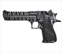 "Magnum Research Desert Eagle .50 AE 6"" 7 Rds Black with Tiger Stripes DE50BTS"