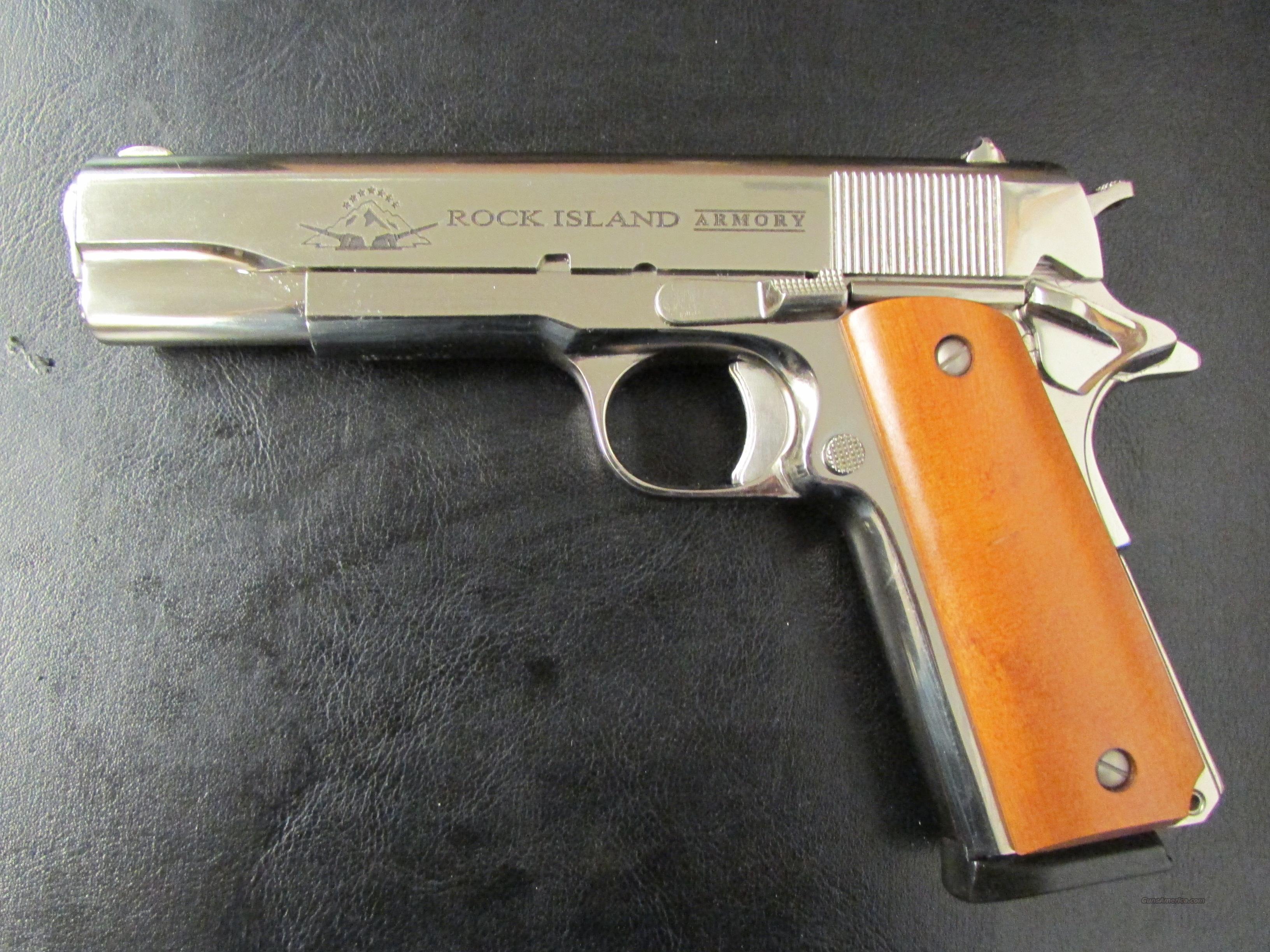Precision Auto Sales >> Armscor Rock Island 1911 Polished Nickel GI (45... for sale