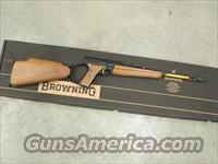 Browning Buck Mark Sporter Rifle Walnut Stock Semi-Auto .22 LR