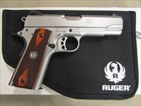 "Ruger SR1911 Commander Stainless 4.25"" .45 ACP"