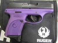 "Ruger LC9S Purple Grip Frame 3"" 7+1 9mm 3242"