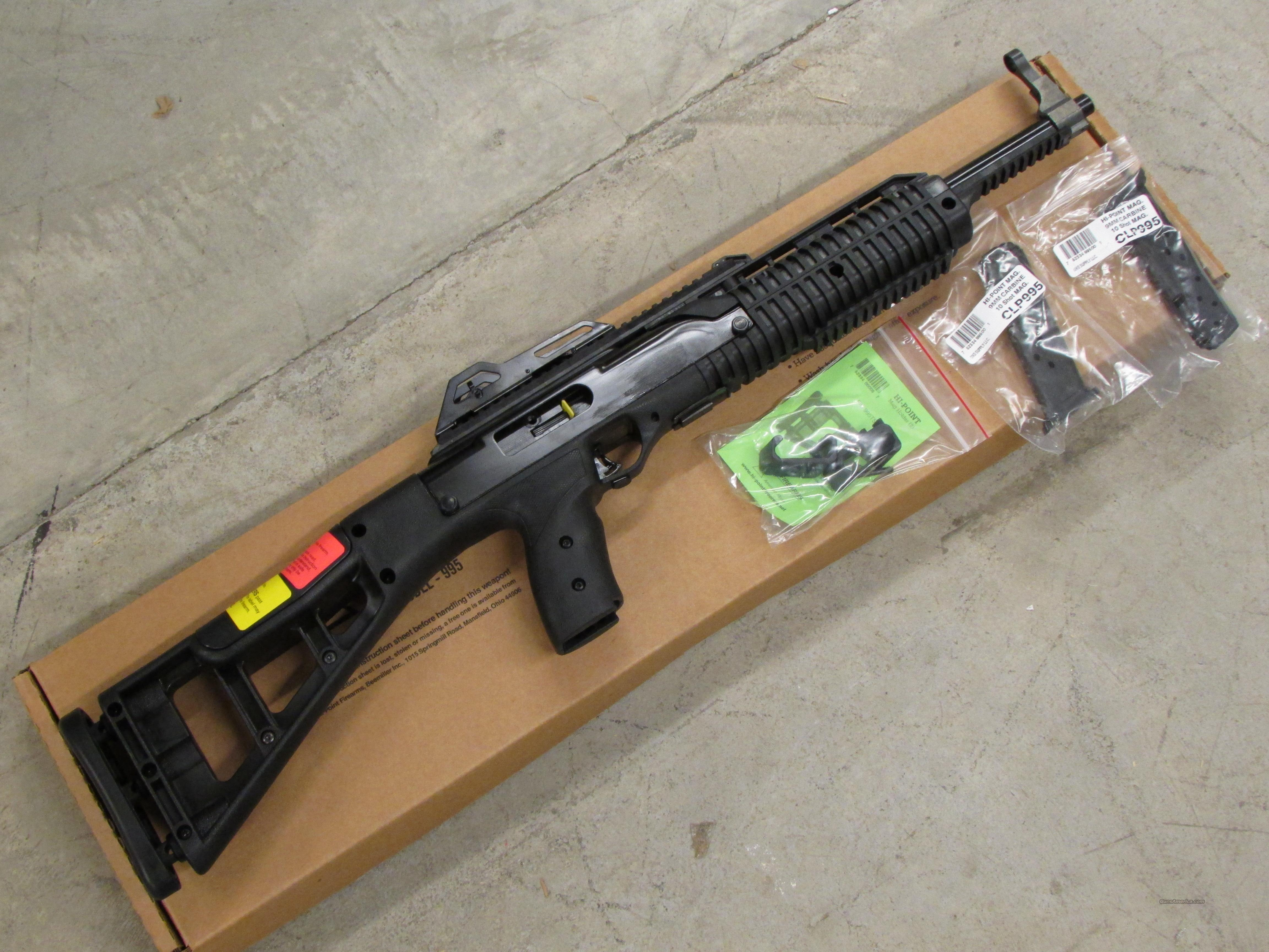 Hi-Point 995TS 9mm Carbine with Mag Holder and 3 Magazines