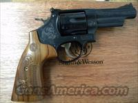 Smith & Wesson Model 29 Engraved .44 Magnum with Mahogany Display