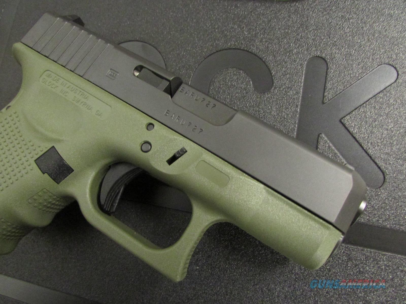 Glock 26 G26 Gen4 BFG Green Frame 9mm PG2650201... for sale