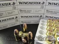 500 ROUNDS WINCHESTER MILITARY 9MM NATO/LUGER 124 GRAIN