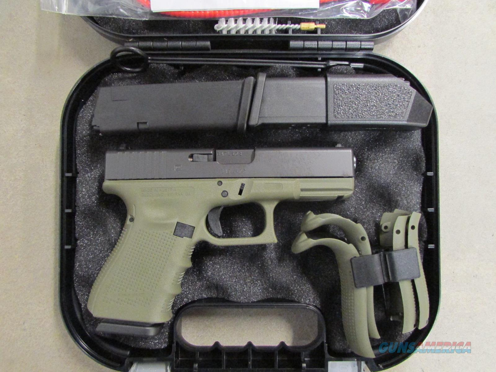 Glock 23 G23 Gen4 Battlefield Green Frame 40 S For Sale