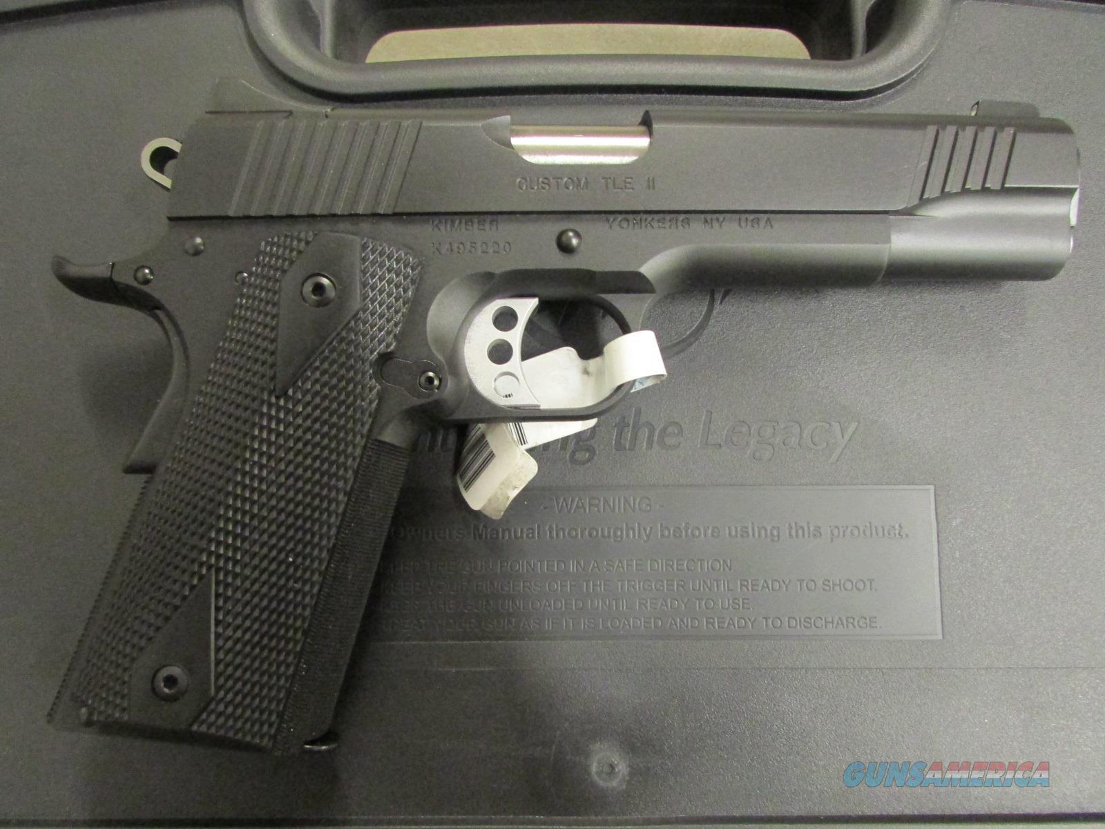 kimber custom tle ii 1911 45 acp 3200068 for sale rh gunsamerica com Remington 1911 kimber 1911 user manual
