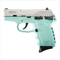 "SCCY CPX-1 TTSB 9mm Pistol SS/Blue 3.1"" 10 Rounds CPX1-TTSB"