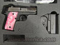 Sig Sauer P238 Engraved with Pink Pearl Grips .380 ACP