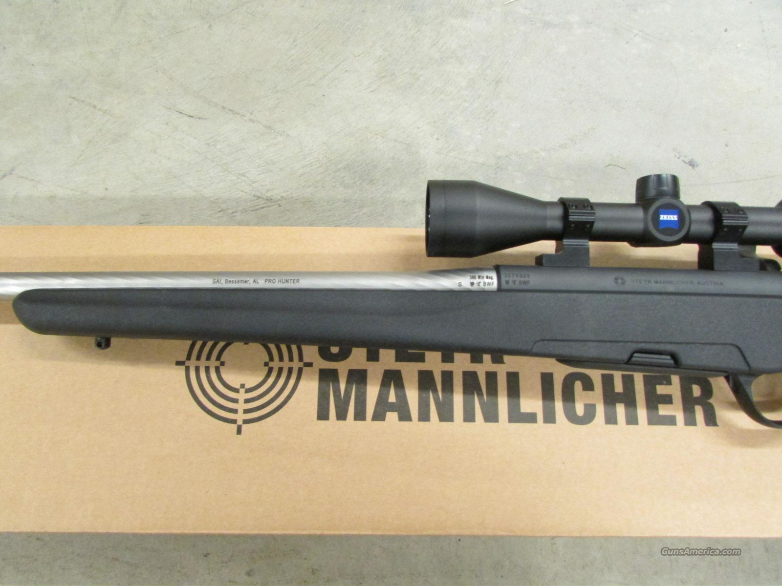 Steyr Mannlicher US ProHunter Stainless  300 Win  Mag with Zeiss Scope