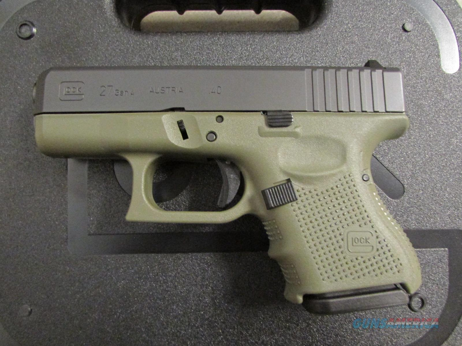 Glock 27 G27 Gen4 Battlefield Green Frame 40 S For Sale