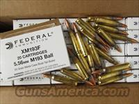 500 ROUNDS FEDERAL XM193F 5.56 NATO 55 GR FMJ-BT