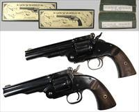 Navy Arms (Uberti) SWF045 Schofield Revolvers - Matched Pair!