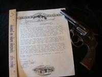 Smith & Wesson 32-20 with Factory Letter shipped 1917 to St. Joseph Missouri
