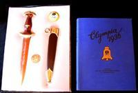 WWII Nazi German Dagger, Olympic Presentation w/Picture Book & Badges