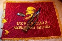 Mint 1954 Russian SKS with Banner, Army Hat & Medals