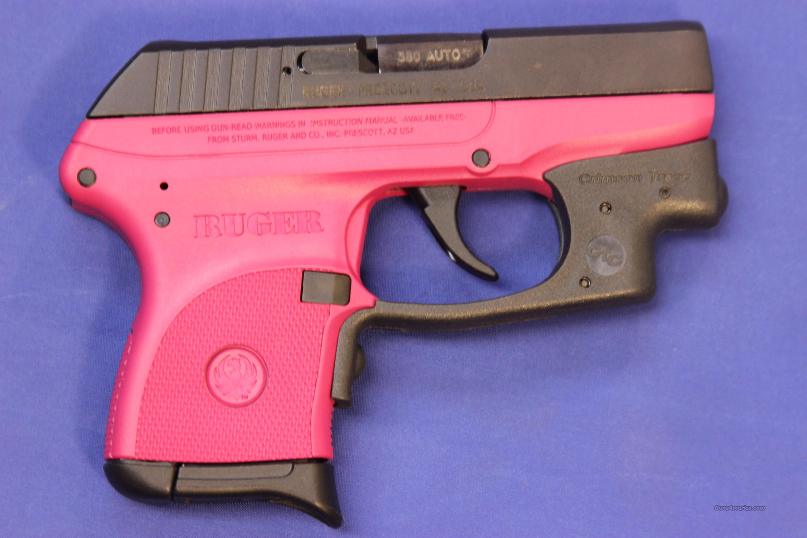Ruger Lcp 380 Auto Raspberry Pink W Laser For Sale