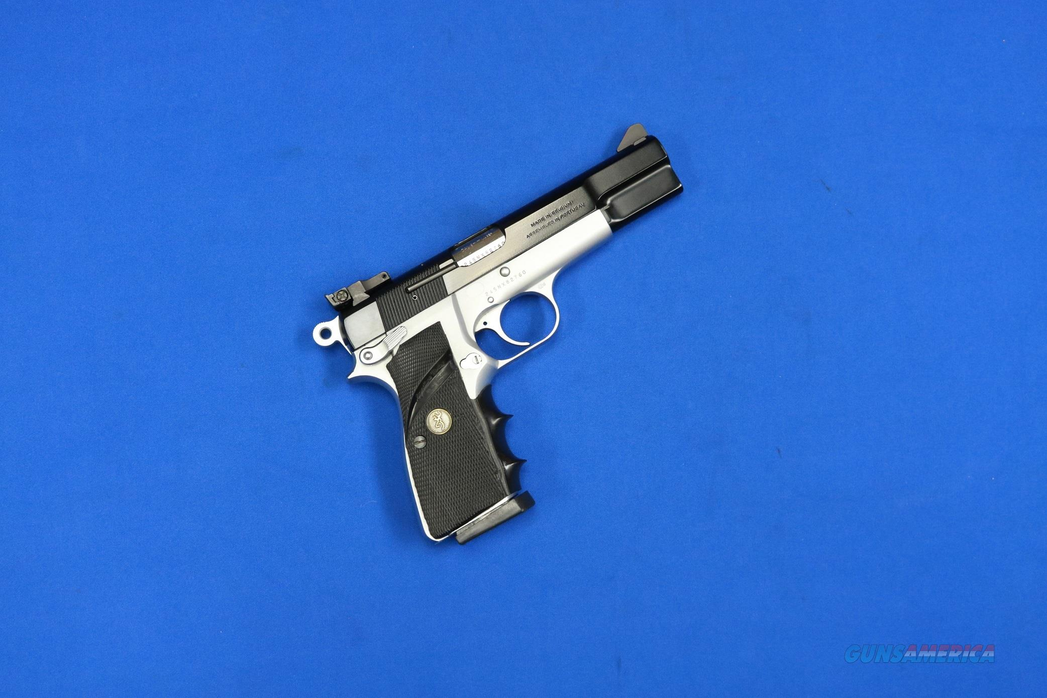 BROWNING HI POWER PRACTICAL 1993 MFG 9MM ADJ REAR SIGHTS