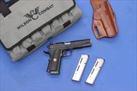 WILSON COMBAT 1911 CQB .45 ACP w/3 MAGS & HOLSTER