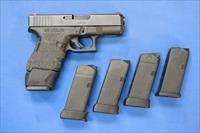 GLOCK MODEL 30 .45 AC9 w/TRIJICON SIGHTS & 4 MAGS