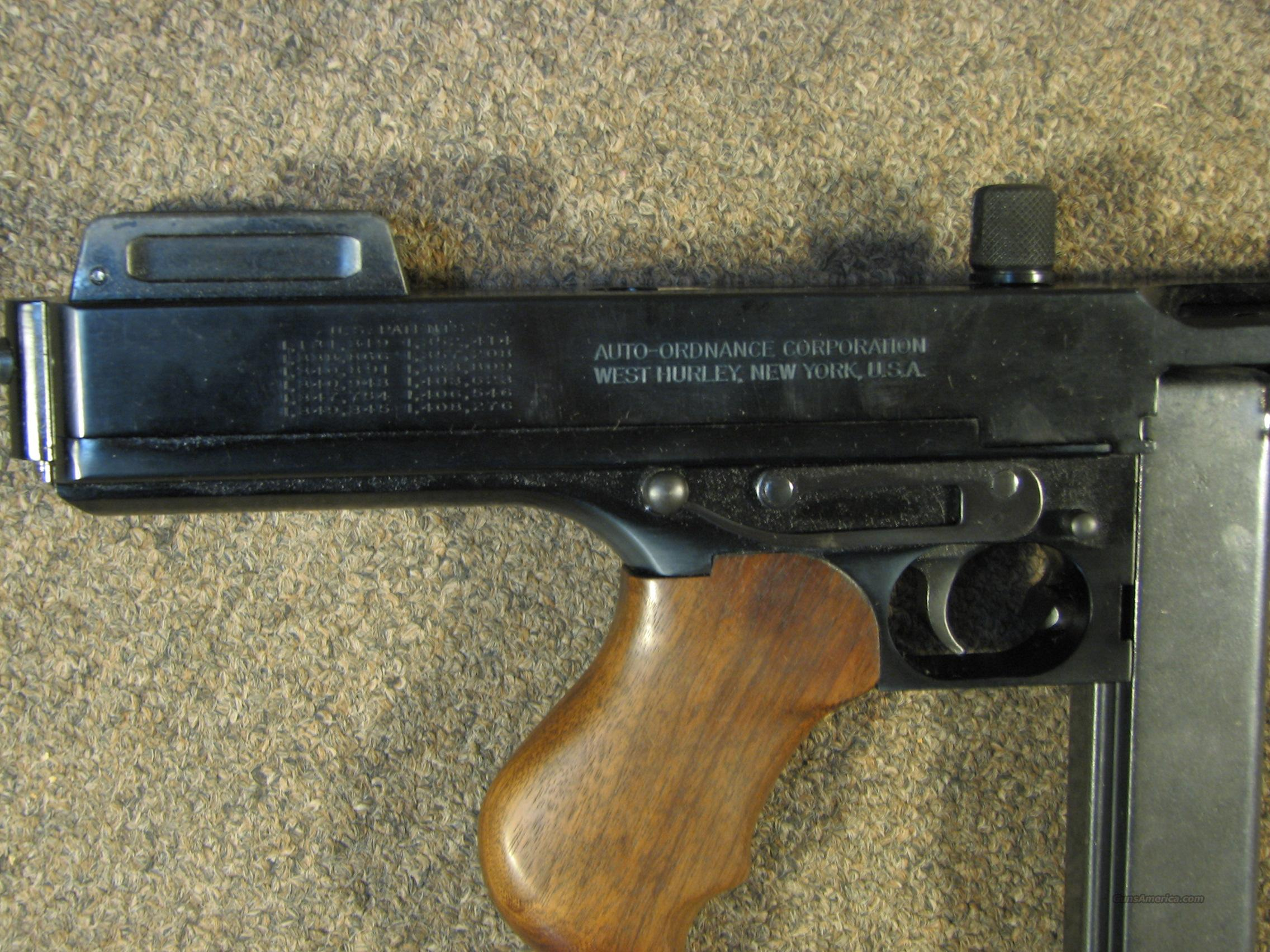 "A1 Auto Sales >> AUTO ORDNANCE THOMPSON 1927 ""TOMMY GUN"" PISTOL ... for sale"
