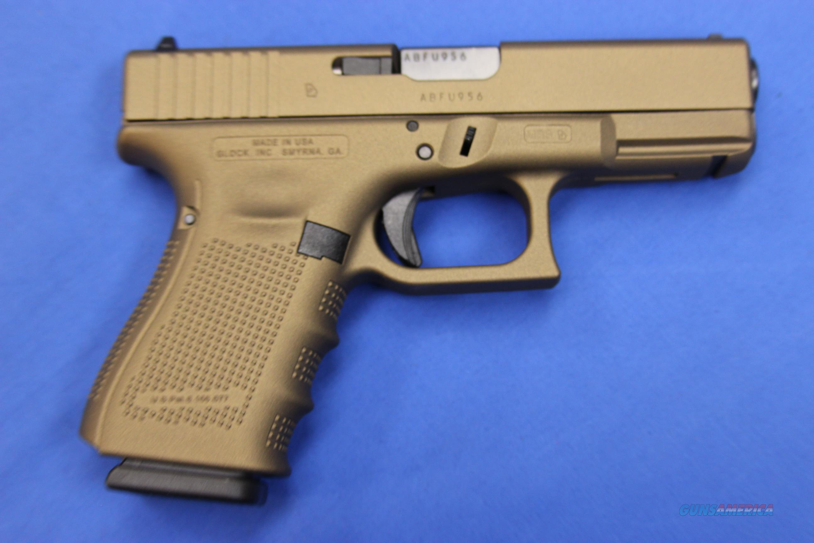 Glock 19 Gen 4 9mm Burnt Bronze Cerakote New For Sale