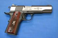 BROWNING 1911-380 BLACK LABEL .380 ACP w/NS - NEW!
