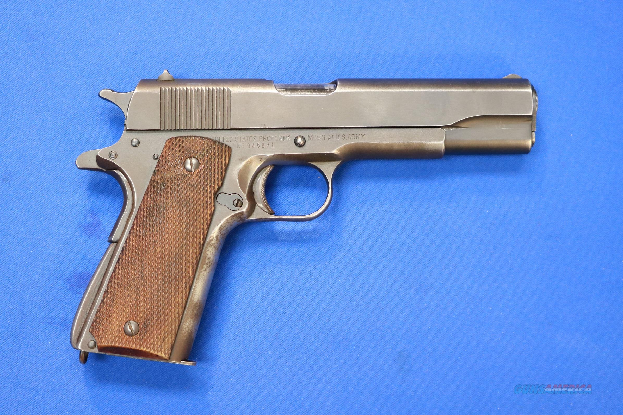 Remington Rand 1911-A1 U S  Army  45 ACP WWII