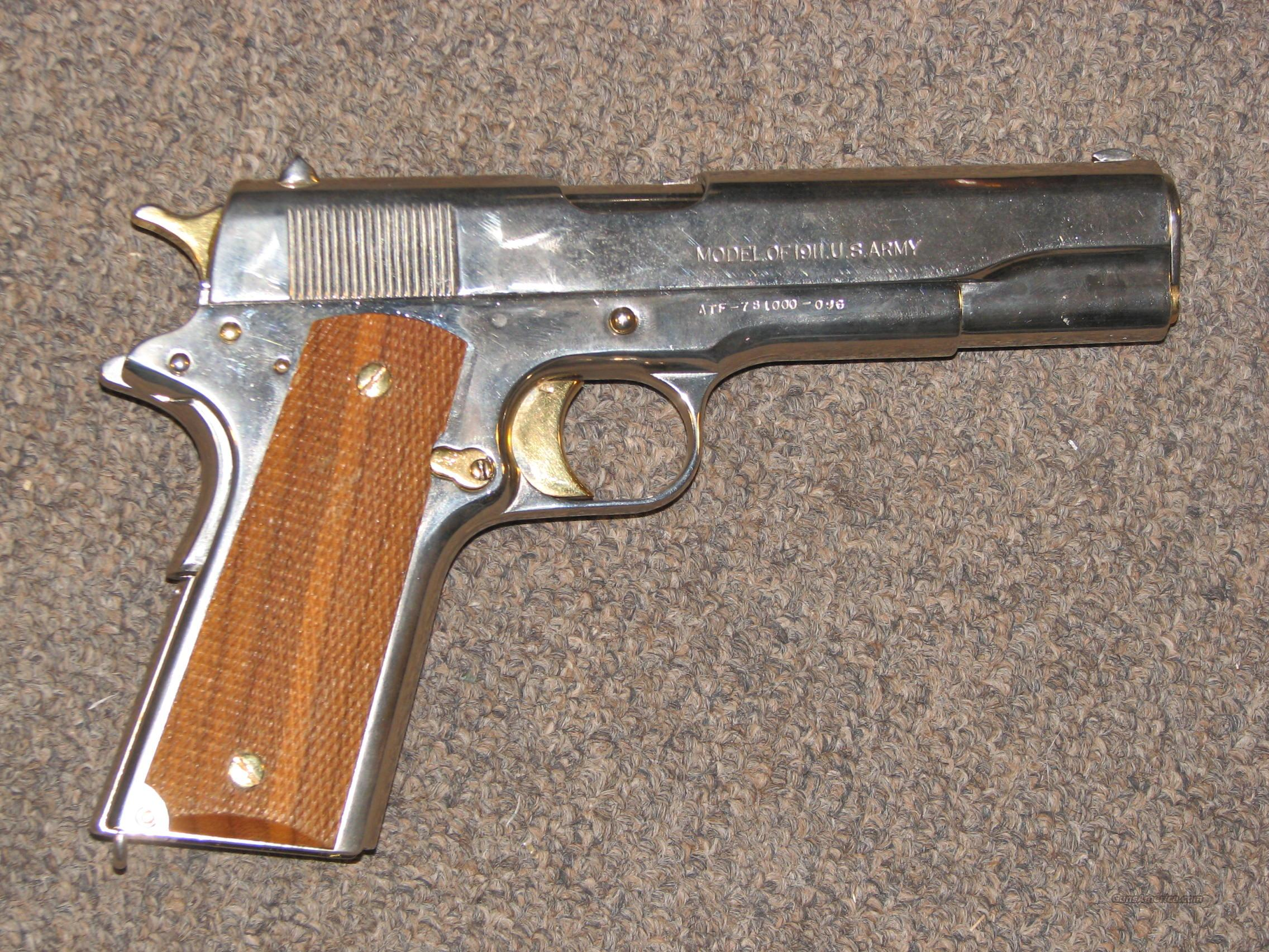 COLT 1911 US ARMY  45 ACP - Nickel/Gold Plated