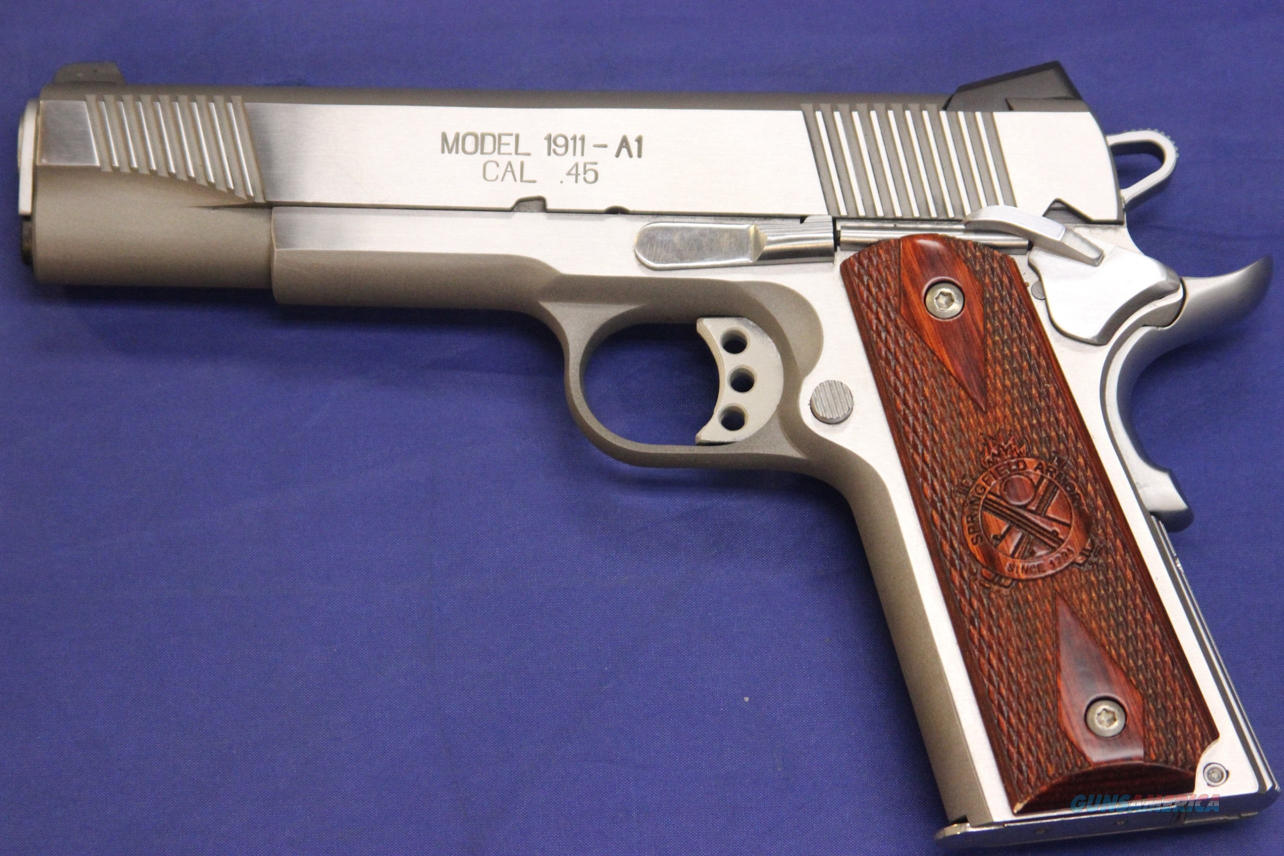 Springfield Armory 1911 A1 Loaded Ss 45 Acp W For Sale