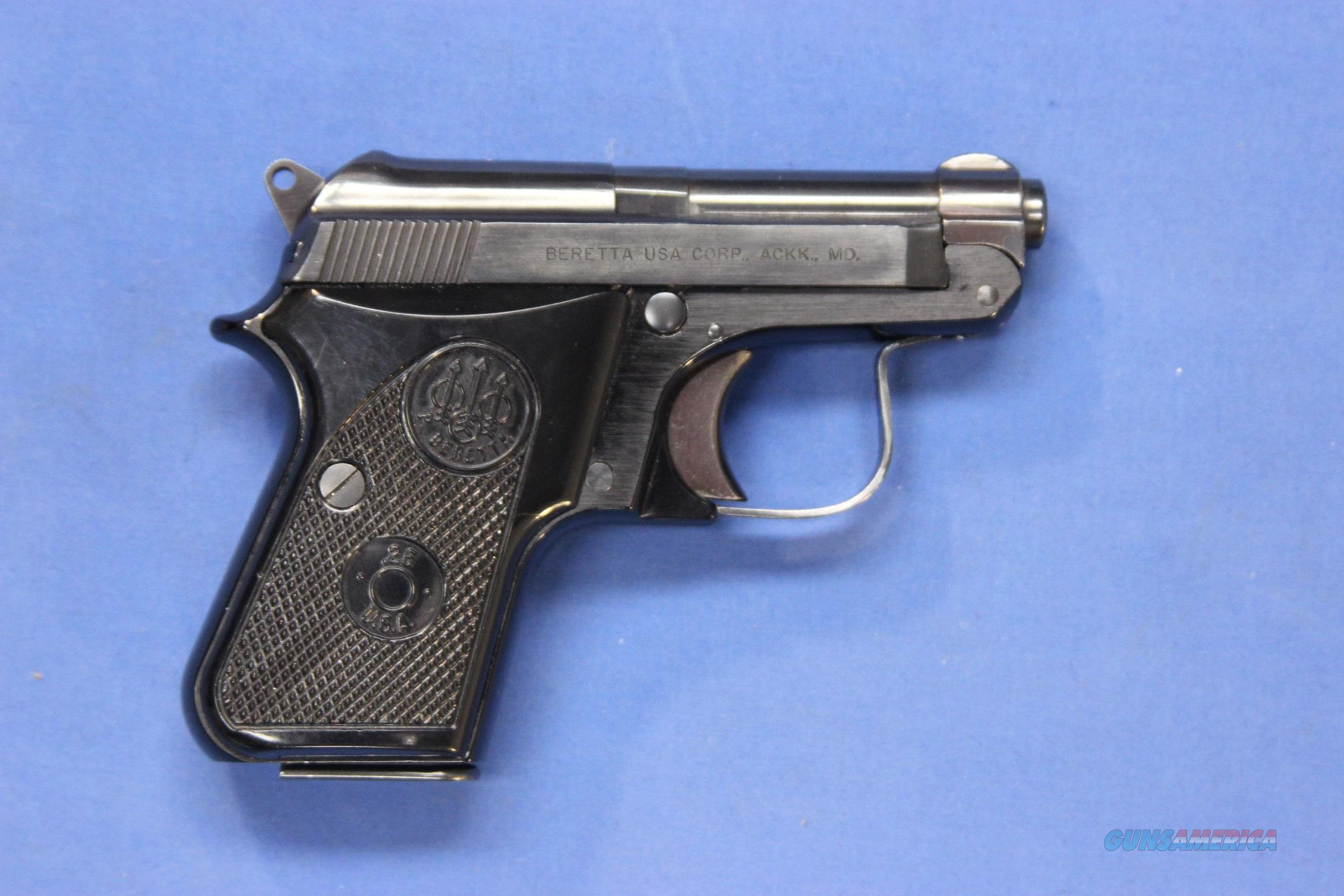 BERETTA 950 BS  25 ACP TIP-UP w/2 MAGAZINES
