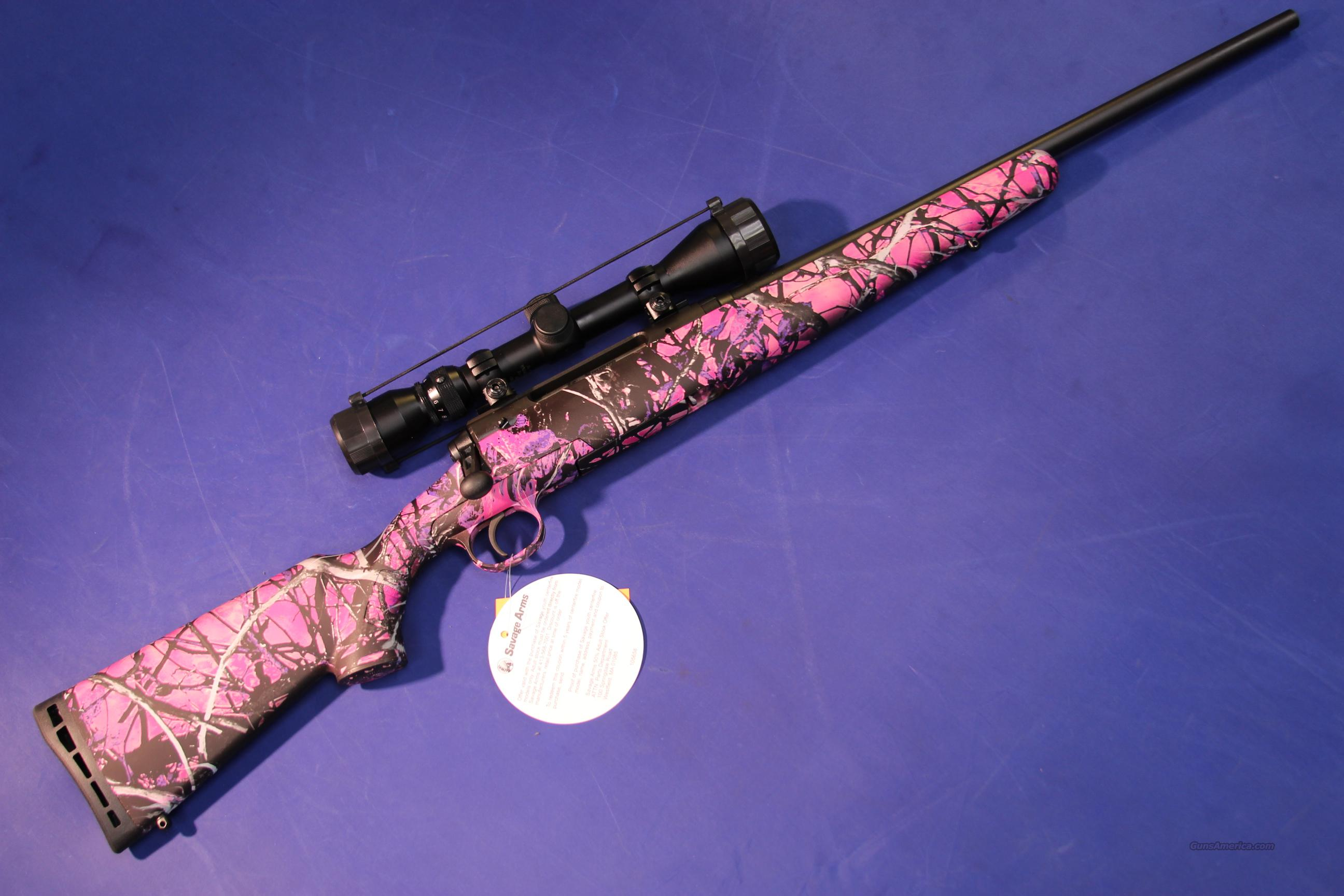 SAVAGE AXIS XP YOUTH PACKAGE 7MM-08 REM PINK CAMO – NEW!