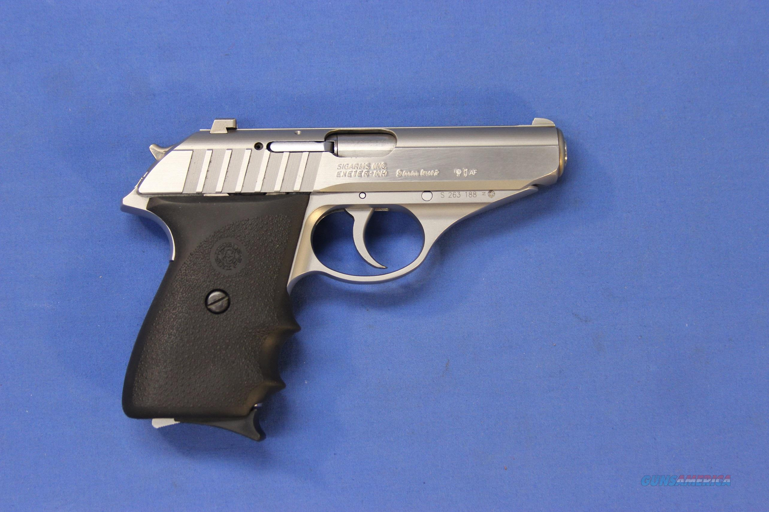 sig sauer p232 stainless 380 acp w box grips for sale
