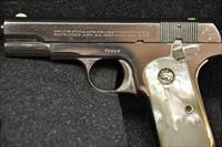 Colt Model 1908 Nickel .380ACP pactory Mother of Pearl grips