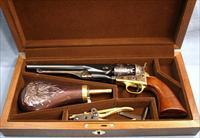 Uberti Colt 1860  Army Civilian Single Action Percussion Revolver Cased Set 44 Caliber