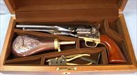 Uberti Colt 1860  Army Cavalry Single Action Percussion Revolver Cased Set 44 Caliber