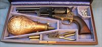 Tucker, Sherrard & Co. Texas Dragoon Reproduction Blackpowder Percussion Revolver cased set, Made by Uberti, .44 Caliber