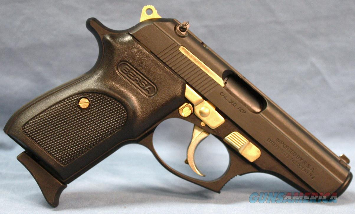 Bersa Thunder Matte Black And Gold Semi Automat For Sale