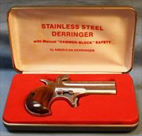 American Derringer Single Action over/under, .38 Special Free Shipping!