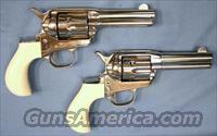 Cimarron Lightning Pair Nickel Finish Single Action Revolvers .38 Special (Non-Consecutive Pair)