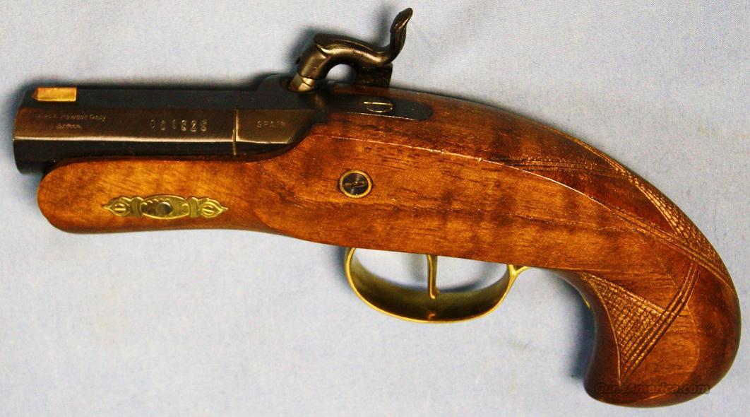 Philadelphia Derringer Single Shot Reproduction Percussion Pistol Cased Set   45 Caliber
