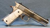 SALE! Iver Johnson 1911A1 Semi-Automatic Pistol, 45 ACP white pearl lite grip panels