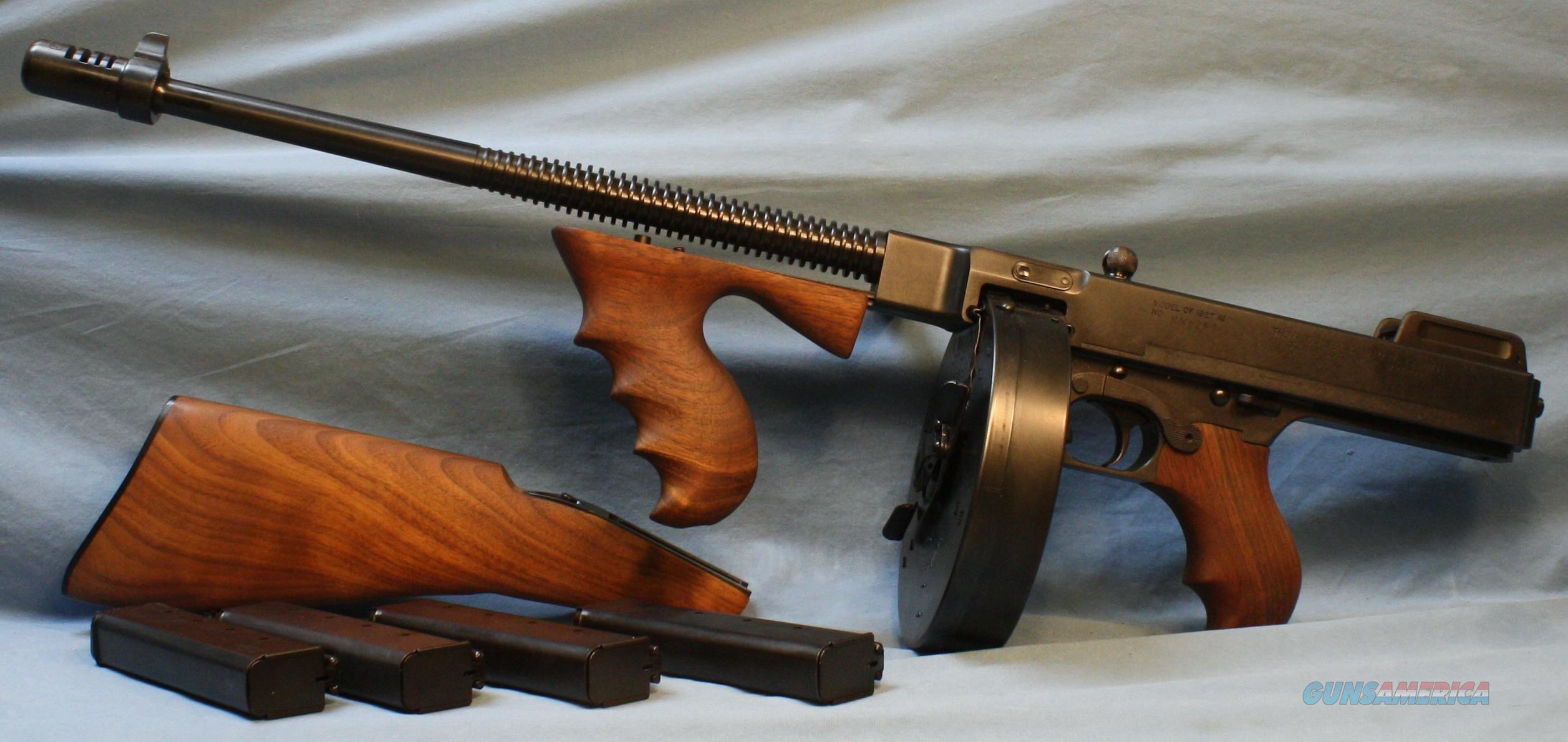 0d90a2c2eab714 Thompson Auto-Ordnance 1927A1 Deluxe Semi-Automatic Carbine Detachable  Stock with FBI Case 45