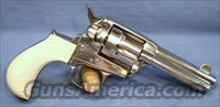 Cimarron Lightning Nickel Finish Single Action Revolver with Imitation Ivory Grips .38 Special