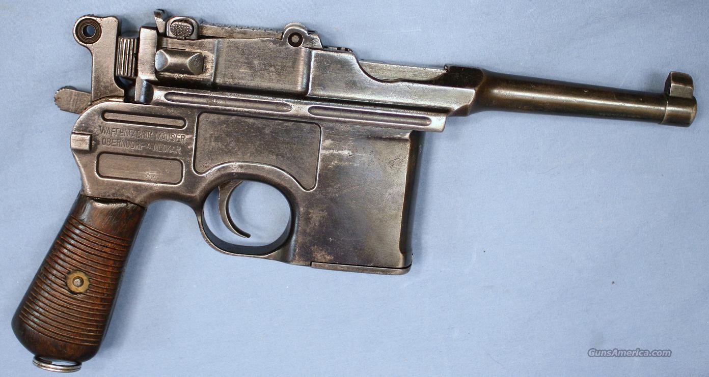 Mauser C96 Broomhandle Semi Automatic Bolo Mode For Sale