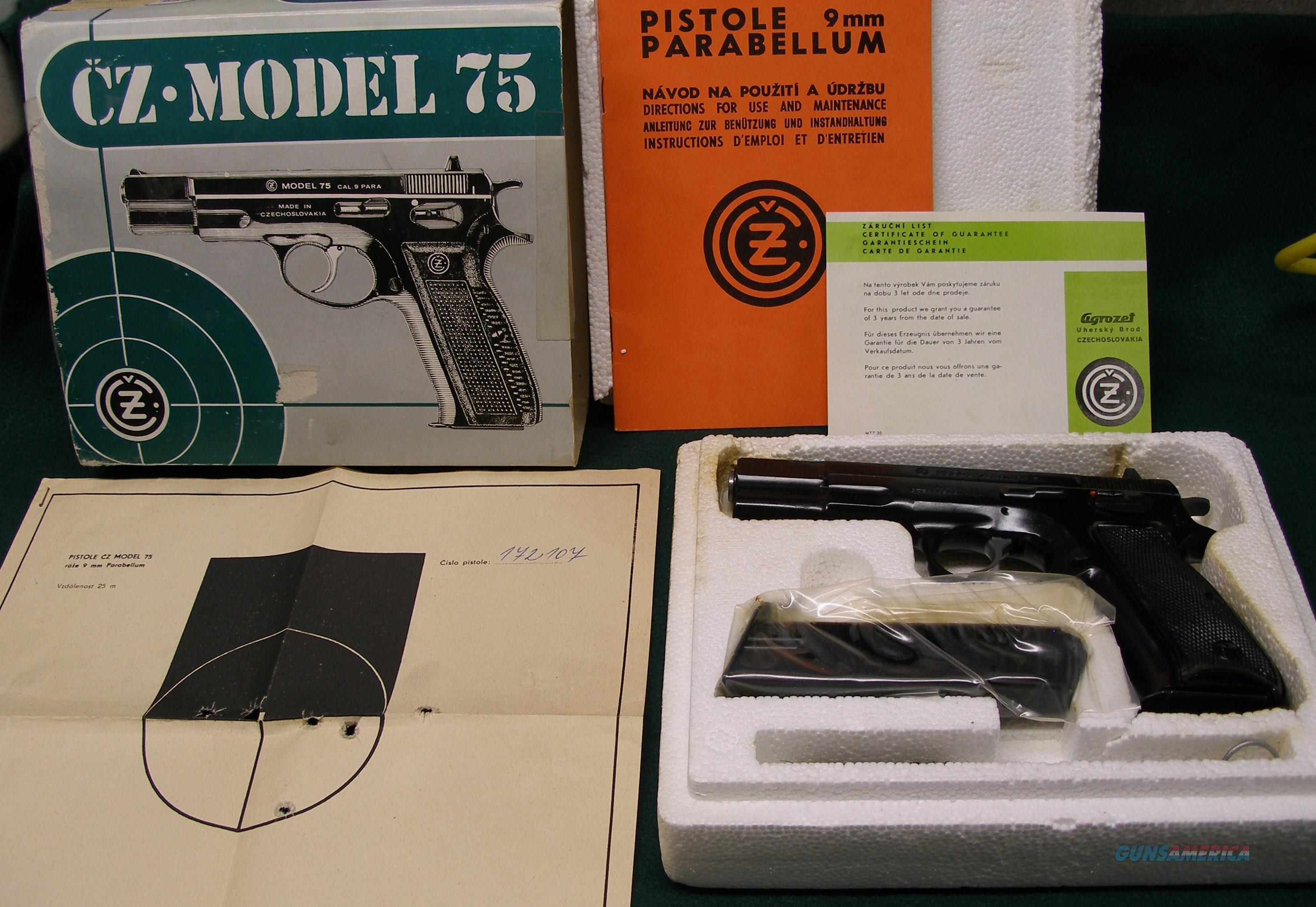 CZ-75 9MM PRE